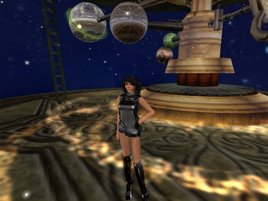 May 2nd: Jenny in the planetarium at JPK Airship Pirates Port Town