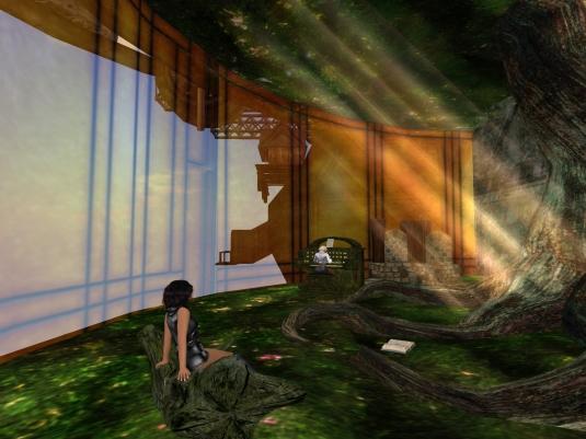 May 2nd: Jenny and Diomita visitng the secret forest at JPK Airship Pirates Port Town