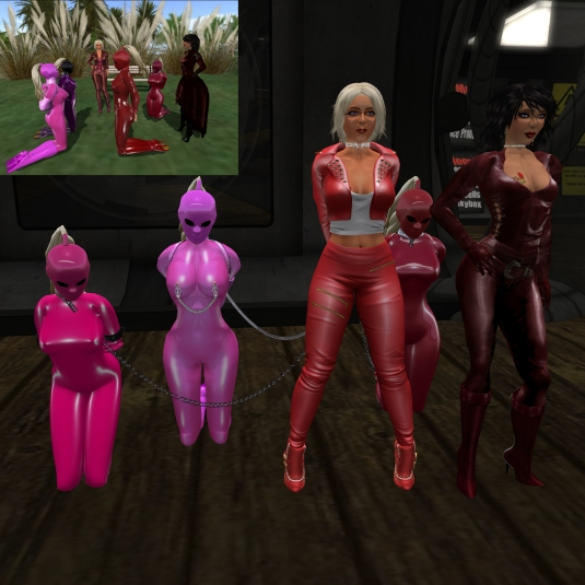 May 14th: Jenny and Diomita exposing the slaves at Mesmerize dungeon