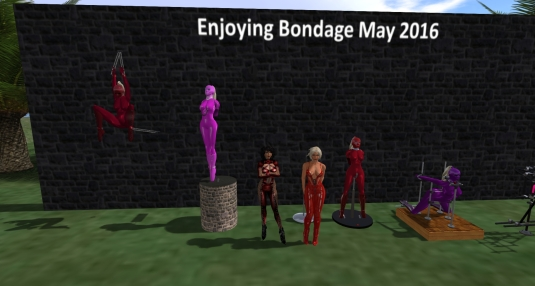 Enjoying bondage May 2016: Shades of red (1)