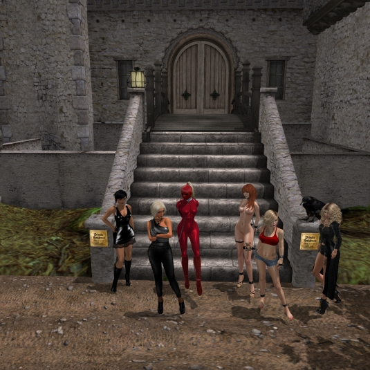 May 24th - a group picture: Jenny, Diomita, slave Flo, pup, Starry, Della