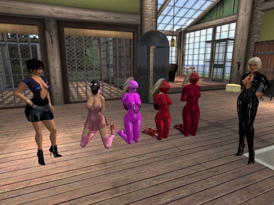 May 25th: Jenny, Pauline, slave Adarra, slave Flo, slave cecy and Diomita at home