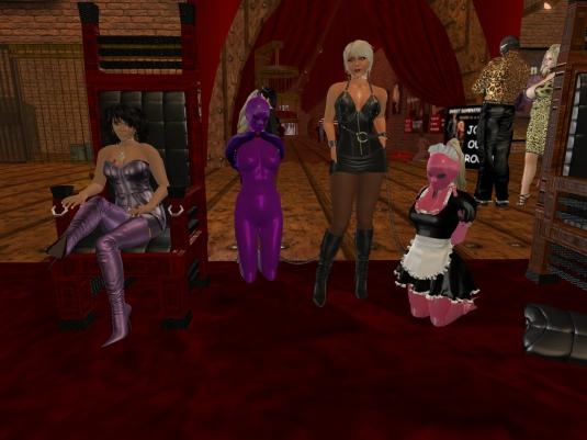 June 21st: Mistress Jenny, Sklavin Gebby, Diomita and slavin C at Sweet Domination