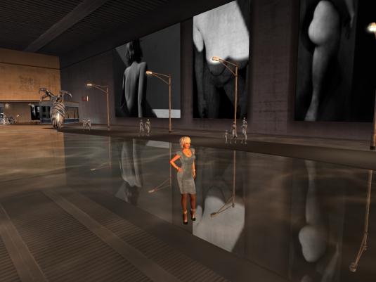 "July 10th: Diomita visiting the exhibition ""ALL_MOST REAL"" at Nitroglobus Hall (1)"