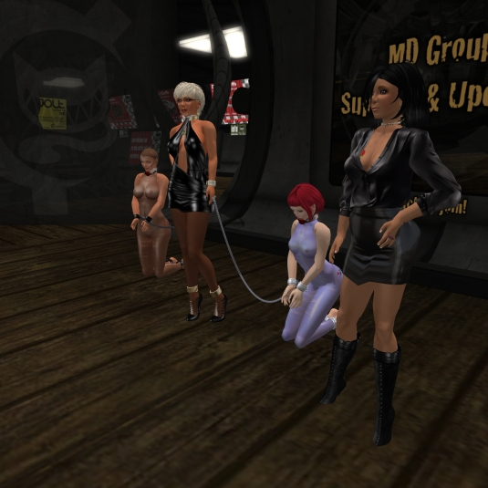 July 10th: Mistress Jenny and Diomita with slave Nina and sklavin Gebby at MD
