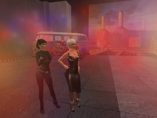 July 11th: Mistress Jenny and Diomita inside Battersea Power Station at Furillen