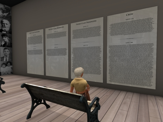 "July 18th: Diomita visiting the Exhibition ""A Night to Remember"" - The passenger and crew list with saved and lost people"