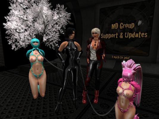 August 16th chilling at MD: slave cecy, Jenny, Diomita and slavin C