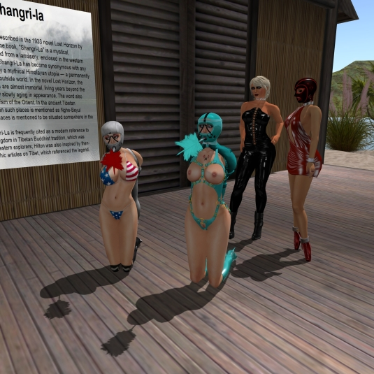 August 22nd: maid Linda and maid slave cecy with Diomita and Jenny