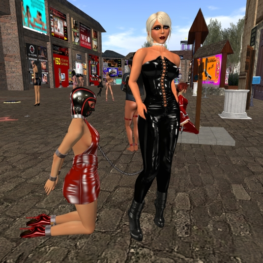 August 23rd: Mistress Diomita and Jenny - enjoying my property again at Lochme