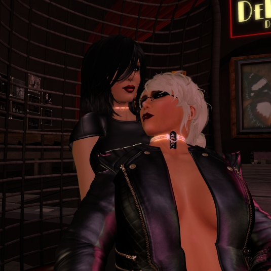 Sept 1st - Mistress Jenny and Diomita chilling at Club DeLust