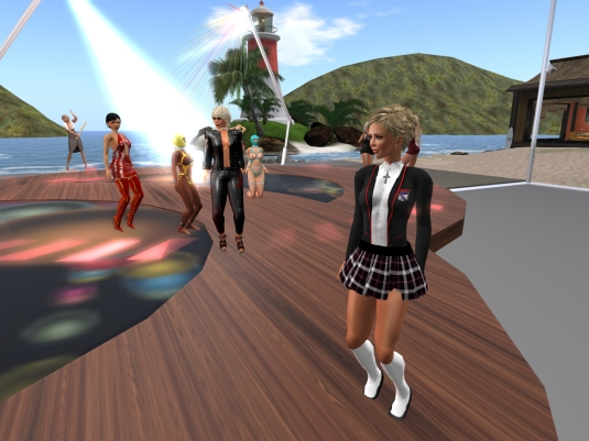 Sept 2nd - Friday night Party: Angelique (in the background: Virgo, Jenny, slave Flo, Diomita, slave cecy)