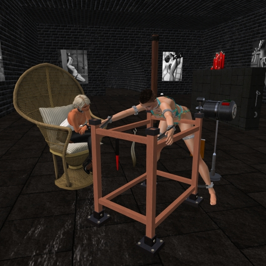 September 6th: Diomita puts slave slut cecy on the spanking/fucking machine