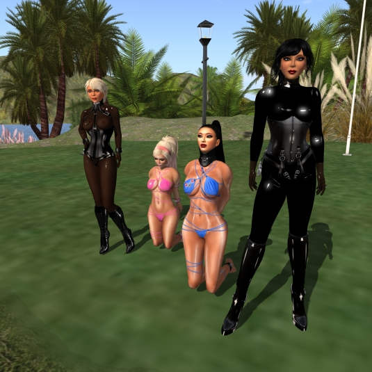 September 9th: Mistress Jenny, Diomita, slaves Adarra and Christa at home
