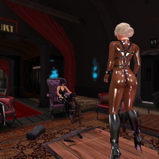 September 28th: Diomita dancing at club DeLust, in the Background Mistress Jenny and Argi
