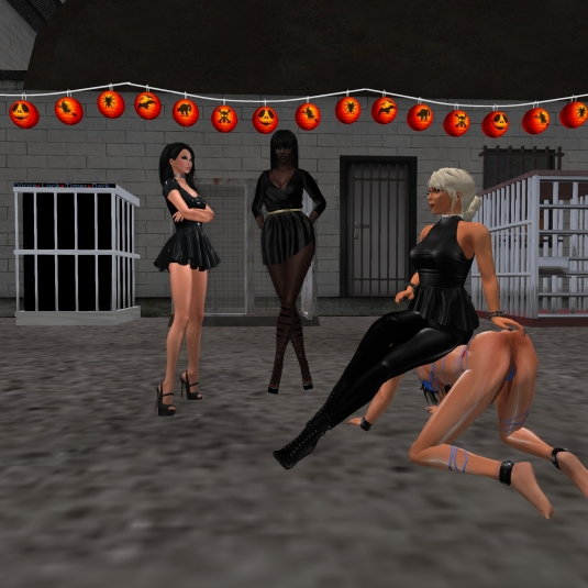 September 29th at S & L Slave Storage: Posion, Argi, Diomita and slave Adarra (from left to right)