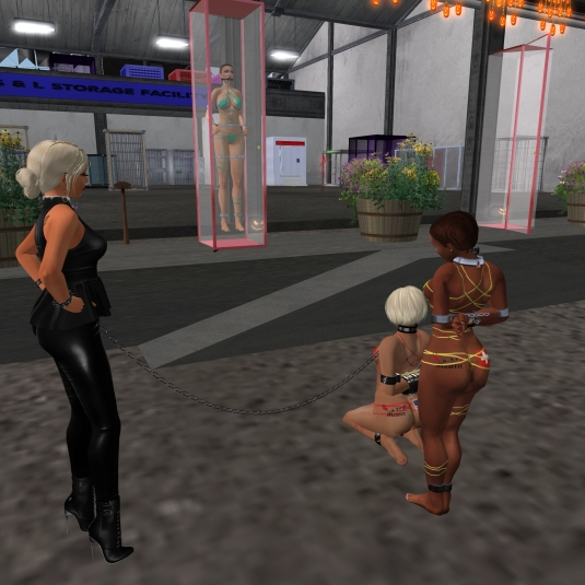 September 29th: Diomita visiting slave cecy together with slave Flo and Kitty