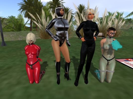 October 6th at home: Kitty, Jenny, Diomita and slave cecy