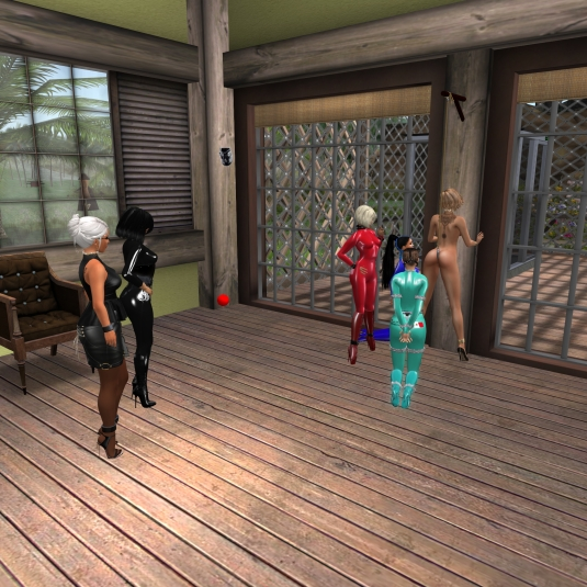 October 20th: Teasong slave L - Diomita, Mistress Jenny, Kitty, slace cecy, slave Adarra and slave L
