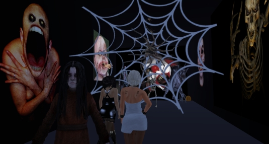 October 25th at Halloween town: Mistress Jenny and me exploring a haunted house