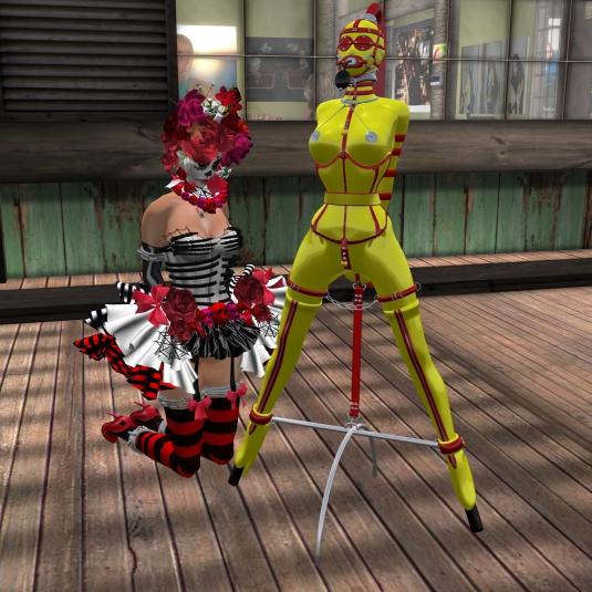 Ocotber 29th: gord doll slave Flo and slave cecy