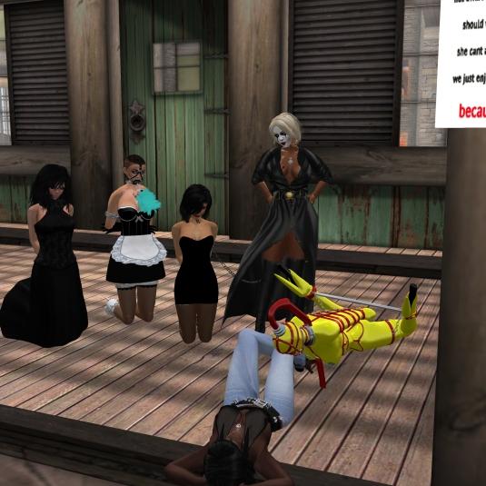 Ocotber 30th: Posion, slave cecy, Jenny, Diomita, gord doll slave Flo and Argi at home