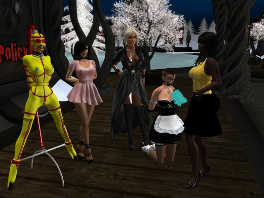October 31st at MD: gord doll slave Flo, Jenny, Mistress Diomita, slave maid cecy and Argi