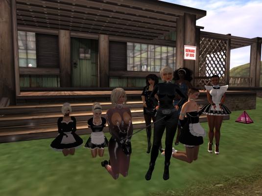 November 9th - full house (of slave maids): Kitty, slavin C, Daniela, Mistress Jenny, Diomita, Argi, slave cecy, slave Flo
