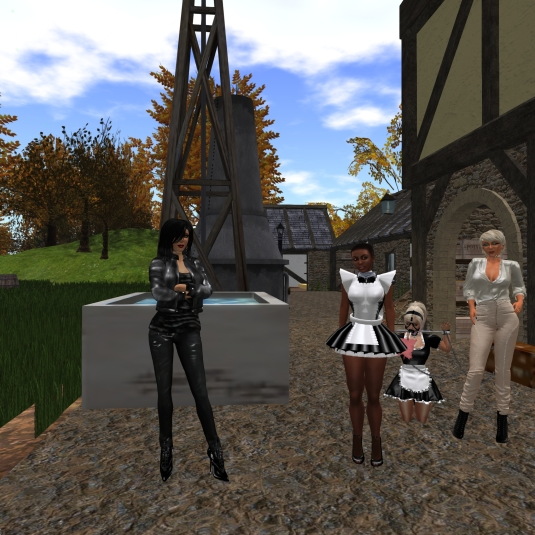 November 19th: Mistress Jenny, slave maid Flo, Slavin maid C and Diomita at Dreamshire farm