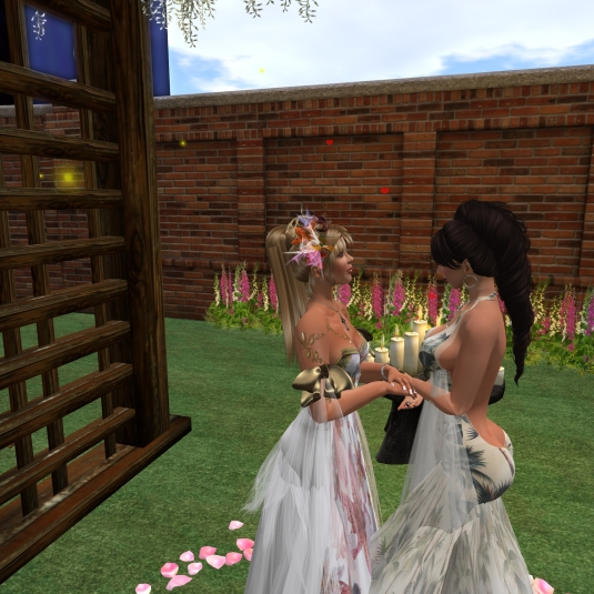 November 20th: Zoey and Angelique after the collaring ceremony
