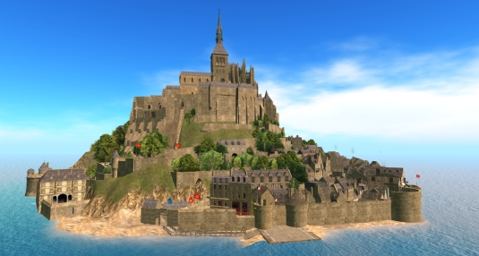November 27th: Diomita's visit to Le Mont saint-Michel in Second Life