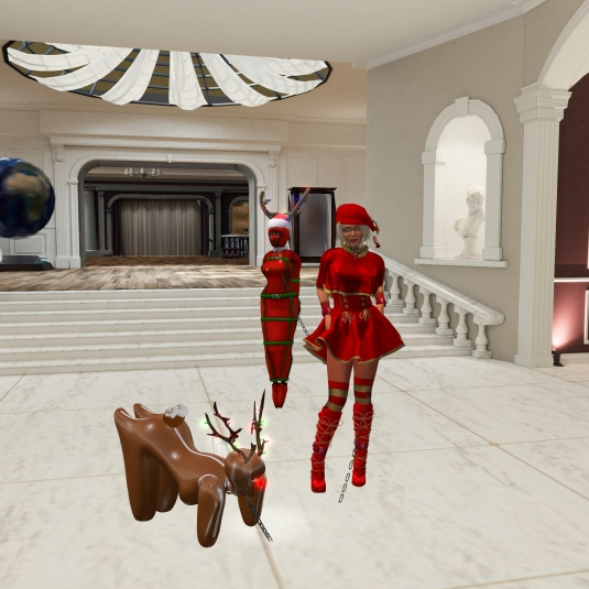 December 8th at BSP: Diomita, slave Flo and puppy at the chateau