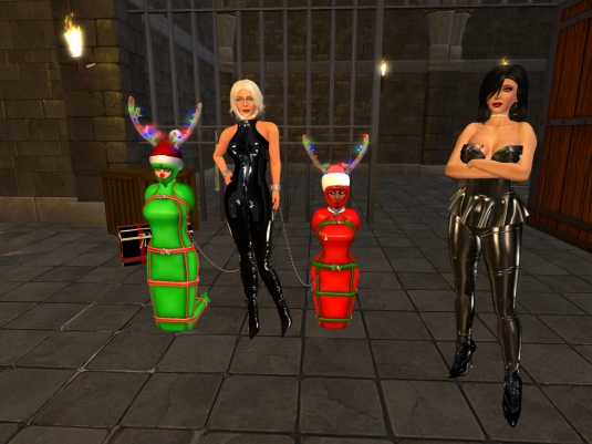 December 19th: slave cecy, Diomita, slave Flo and Mistress Jenny at Psi