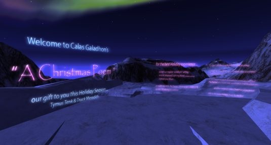 December 24th: Calas Galadhon's 2016 Holiday Sim - The landing point