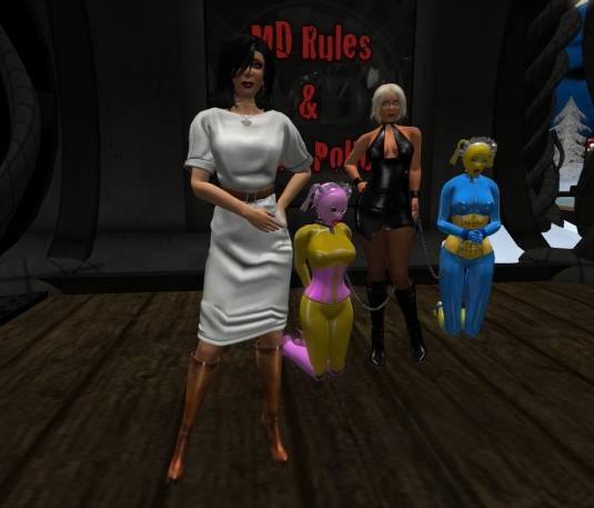 Jan 8th; Mistress Jenny, slave Flo, Diomita and slave cecy at MD
