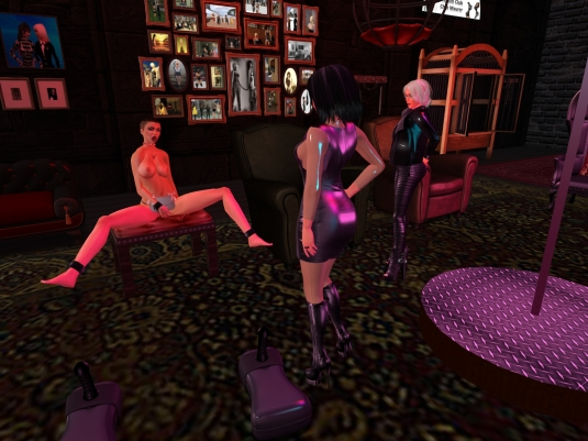 February 7th - at the FCCM: Mistress Jenny and Diomita watching slave slut cecy