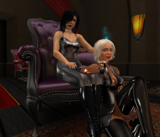 Feb 9th: Mistress Jenny and Diomita concluding the day at Club DeLust