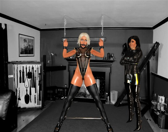 Enjoying bondage February 2017: Mistress Jenny and Ehesklavin Diomita