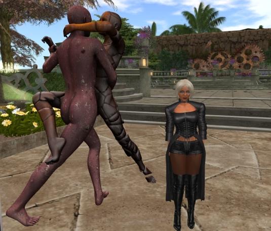 Feb 15th: Diomita visiting the Mistero Hifeng Exhibition at Astral Dreams (La...chiamano realta' by Mistero Hifeng)