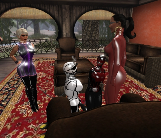 March 5th at Sarah's home: Diomita, slave Flo, vero and Madame Sarah
